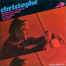 Discos de vinilo: CHRISTOP0HE / PERDONEME, SR. PROFESOR + 3 (EP 1966). Lote 179128802