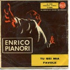 Discos de vinilo: ENRICO PIANORI / TU SEI MIA / FAVOLE (SINGLE 1959). Lote 179129247