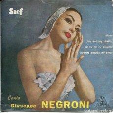 Discos de vinilo: GIUSEPPE NEGRONI / DIANA + 3 (EP ESPAÑOL 1959). Lote 179131246