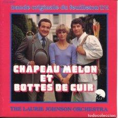 Discos de vinilo: THE LAURIE JOHNSON ORCHESTRA / THE NEW AVENGERS THEME / L'HOMME AU CHAPEAU MELON (SINGLE FRANCES). Lote 179132325