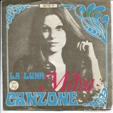 Discos de vinilo: MILVA / CANZONE / LA LUNA (SINGLE 1968). Lote 179134732