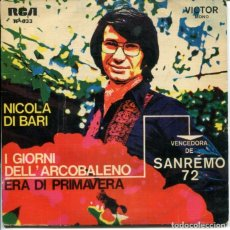 Discos de vinilo: NICOLA DI BARI / I GIORNI DELL' ARCOBALENO / ERA DI PRIMAVERA / DAMMI FUOCO / LA BAMBA (EP PORTUGUES. Lote 179134881
