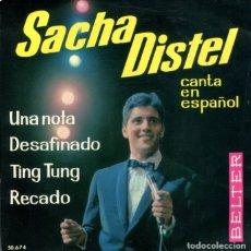Discos de vinilo: SACHA DISTEL (EN ESPAÑOL) UNA NOTA / DESAFINADO + 2 (EP 1963). Lote 179135595