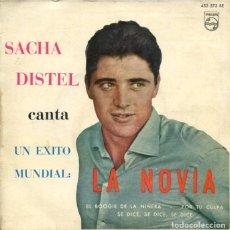 Discos de vinilo: SACHA DISTEL / EL BOOGIE DE LA NIÑERA / LA NOVIA + 2 (EP 1961). Lote 179135788