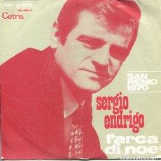 Discos de vinilo: SERGIO ENDRIGO / L'ARCA DI NOE / DALL'AMERICA (SINGLE 1970). Lote 179136133