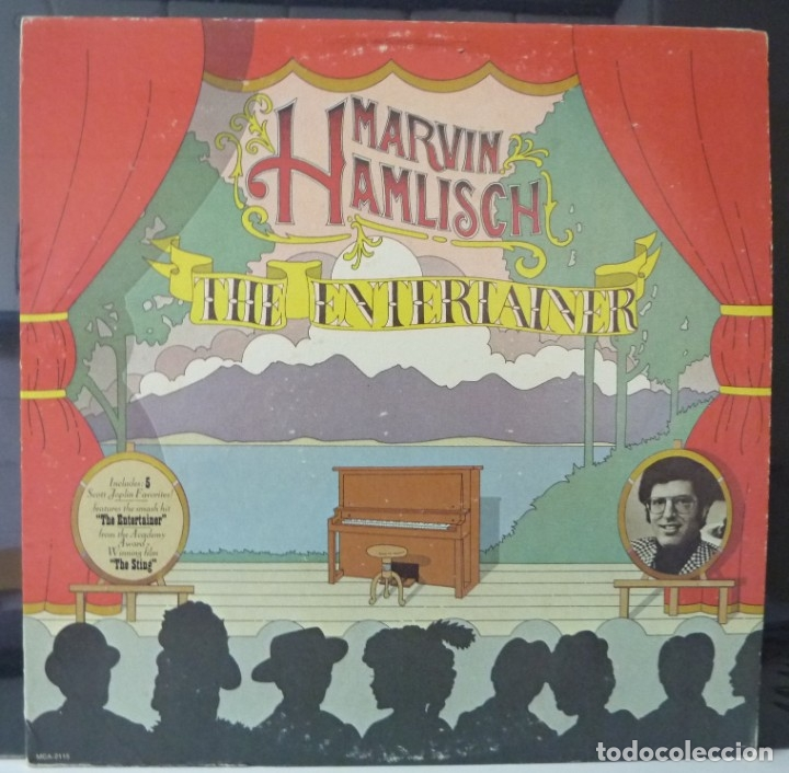 MARVIN HAMLISCH // THE ENTERTAINER //1974// MADE IN USA// (VG VG). LP (Música - Discos - LP Vinilo - Cantautores Extranjeros)