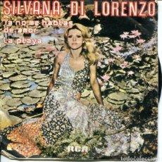 Discos de vinilo: SILVANA DI LORANZO / YA NO ME HABLAS MAS DE AMOR / LA PLAYA (SINGLE 1977). Lote 179137258