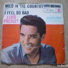Discos de vinilo: ELVIS PRESLEY. WILD IN THE COUNTRY. ORIGINAL DE 1961. OCASION. Lote 179138457