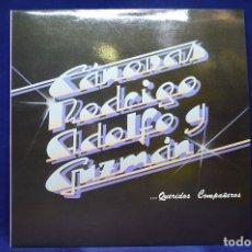 Discos de vinilo: CÁNOVAS, RODRIGO, ADOLFO Y GUZMÁN - QUERIDOS COMPAÑEROS - LP. Lote 179141513