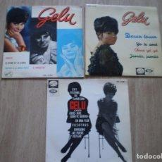 Discos de vinilo: 3 SINGLES GELU. AÑOS 60. OCASION. Lote 179143741