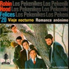 Discos de vinilo: LOS PEKENIKES - EP VINILO 7'' - EDITADO EN PORTUGAL - ROBIN HOOD + 3 - ALVORADA 1967. Lote 179146825