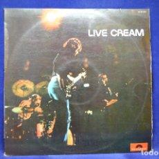 Discos de vinilo: CREAM - LIVE CREAM - LP. Lote 179152981