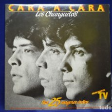 Discos de vinilo: LOS CHUNGUITOS - CARA A CARA / SUS 25 MAYORES ÉXITOS - 2 LP. Lote 179154473