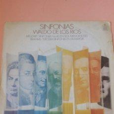 Discos de vinilo: SINFONÍAS- WALDO DE LOS RIOS. Lote 179157222