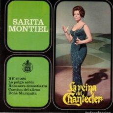 Discos de vinilo: SARITA MONTIEL - LA REINA DEL CHANTECLER - LA PULGA SABIA + 3 - EP 1963. Lote 179160146