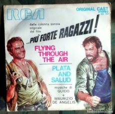 Discos de vinilo: OLIVER ONIONS – FLYING THROUGH THE AIR / PLATA AND SALUD ITALY 1973 TERENCE HILL BUD SPENCER. Lote 179162210