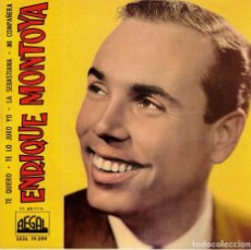 Discos de vinilo: ENRIQUE MONTOYA - TE QUIERO + 3 - EP 1962. Lote 179162251