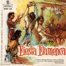 Discos de vinilo: ENRIQUE MONTOYA - FIESTA FLAMENCA - A LA FERIA DE GRANA + 3 - EP 1960. Lote 179162452