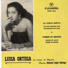 Discos de vinilo: LUISA ORTEGA - LA COPLA NUEVA + 3 - EP 1959 . Lote 179165832
