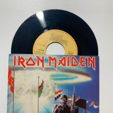 Discos de vinilo: SINGLE EP VINILO IRON MAIDEN 2 MINUTES TO MIDNIGHT EDICION ESPAÑOLA DE 1984. Lote 179166281