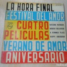 Discos de vinilo: CUATRO PELICULAS, EP, PERCY FAITH - A SUMMER PLACE + 3, AÑO 1960. Lote 179166358