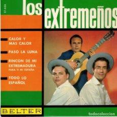 Discos de vinilo: LOS EXTREMEÑOS - CALOR Y MAS CALOR + 3 - EP 1963. Lote 179169682