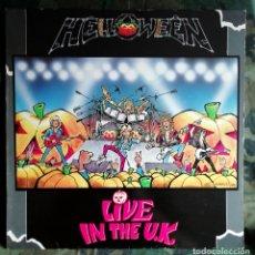Discos de vinilo: HELLOWEEN – LIVE IN THE U.K. LP SPAIN 1989 . Lote 179169720