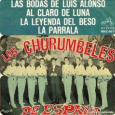 Discos de vinilo: LOS CHURUMBELES DE ESPAÑA - LAS BODAS DE LUIS ALONSO + 3 - EP EDITADO EN MÉXICO. Lote 179169806