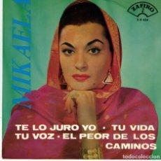Discos de vinilo: MIKAELA - TE LO JURO YO + 3 - EP 1964. Lote 179170708