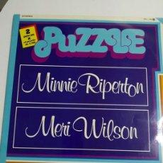 Discos de vinilo: MINNIE RIPERTON / MERI WILSON – PUZZLE--DOBLE LP EDICION ESPAÑOLA 1978. Lote 179172257