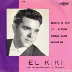 Discos de vinilo: EL KIKI - LAMENTOS DE CIEGO + 3 - EP 1966. Lote 179172515