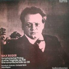 Discos de vinilo: MAX REGER, PRÓLOGO SINFONICO PARA TRAGEDIA Y SUITE ROMÁNTICA. SELLO ETERNA,1975. Lote 179172520
