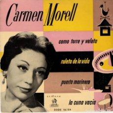 Discos de vinilo: CARMEN MORELL - COMO TORRE Y VELETA - DISCO MUY RARO DE LOS AÑOS 50. Lote 179172810