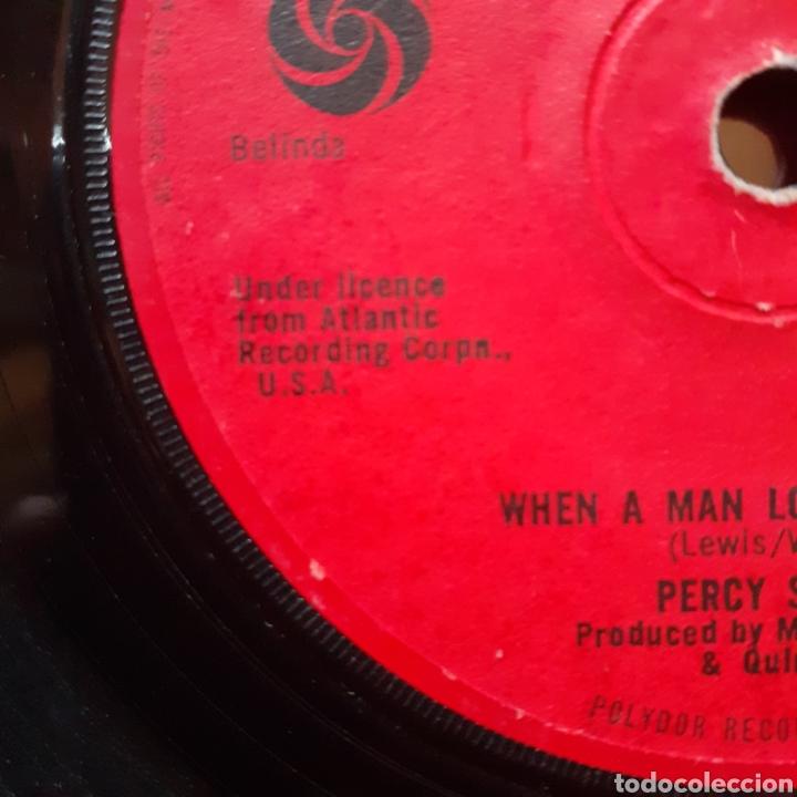 Discos de vinilo: Percy Sledge When a man.../Love me like you mean it single UK 1966 Atlantic 584001 - Foto 2 - 179172862
