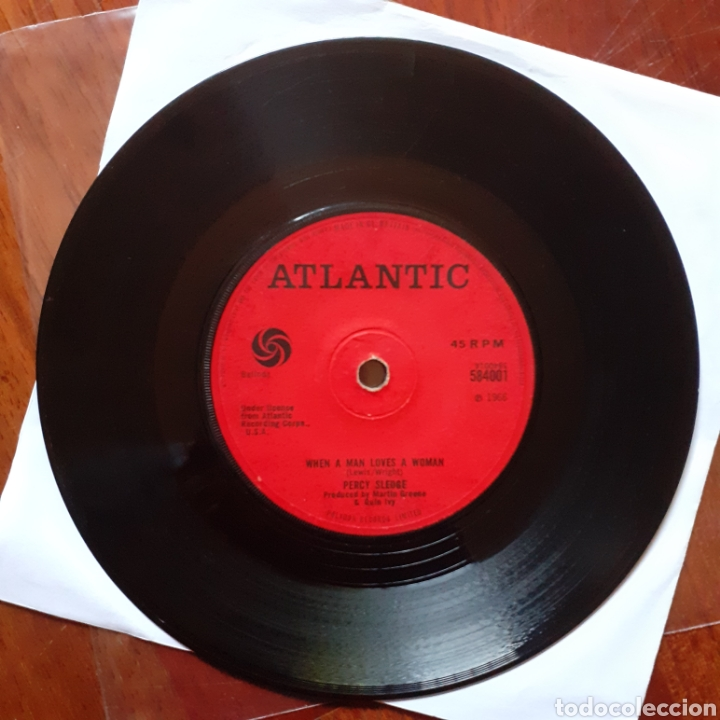 PERCY SLEDGE WHEN A MAN.../LOVE ME LIKE YOU MEAN IT SINGLE UK 1966 ATLANTIC 584001 (Música - Discos - Singles Vinilo - Funk, Soul y Black Music)