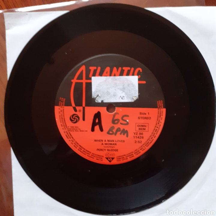 PERCY SLEDGE WHEN A MAN.../WARM AND TENDER LOVE ATLANTIC YZ96 11426 WEA REEDICIÓN ALEMANA (Música - Discos - Singles Vinilo - Funk, Soul y Black Music)