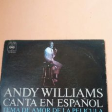 Discos de vinilo: ANDY WILLIAMS CANTA EN ESPAÑOL. Lote 179175080