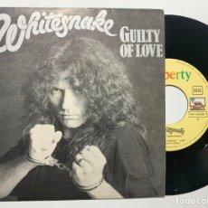 Discos de vinilo: SINGLE EP VINILO WHITESNAKE GUILTY OF LOVE EDICION ESPAÑOLA DE 1983. Lote 179176846