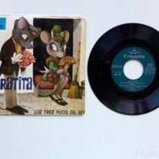 Discos de vinilo: 1964, LA RATITA, LOS TRES HIJOS DEL REY. Lote 179177472
