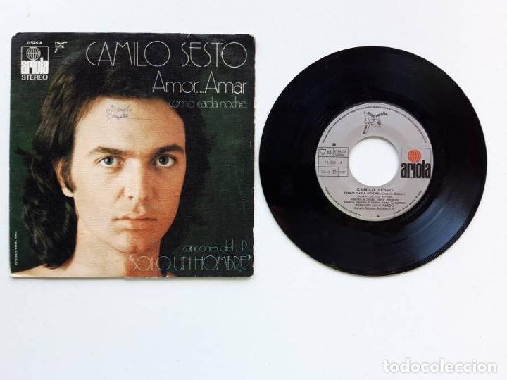 1972, CAMILO SESTO, AMOR AMAR, ARIOLA 11524 (Música - Discos de Vinilo - EPs - Solistas Españoles de los 70 a la actualidad)
