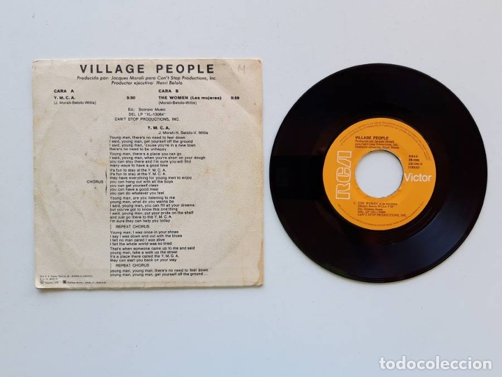 Discos de vinilo: Village People. Y.M.C.A. YMCA - Foto 2 - 179178448