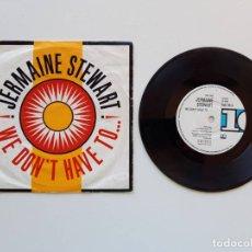 Discos de vinilo: JERMAINE STEWART, WE DON'T HAVE TO…. Lote 179178548