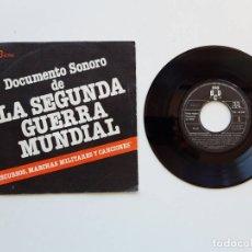 Discos de vinilo: DOCUMENTO SONORO DE LA SEGUNDA GUERRA MUNDIAL. Lote 179178550