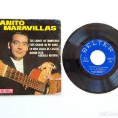 Discos de vinilo: JUANITO MARAVILLAS, TUS LABIOS HE COMPRARAO. Lote 179178633