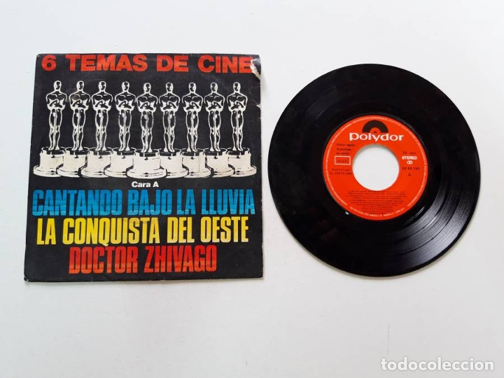 6 TEMAS DE CINE, CANTANDO BAJO LA LLUVIA, LA CONQUISTA DEL OESTE, DOCTOR ZHIVAGO (Música - Discos de Vinilo - EPs - Bandas Sonoras y Actores)