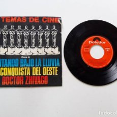 Discos de vinilo: 6 TEMAS DE CINE, CANTANDO BAJO LA LLUVIA, LA CONQUISTA DEL OESTE, DOCTOR ZHIVAGO. Lote 179178678