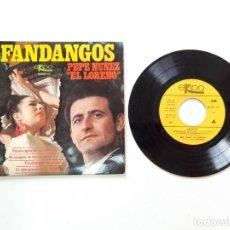 Discos de vinilo: FANDANGOS, PEPE NUÑEZ EL LOREÑO. Lote 179178713
