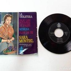 Discos de vinilo: SARA MONTIEL, LA VIOLETERA, EDICIÓN FRANCIA, HISPAVOX 27507. Lote 179178785