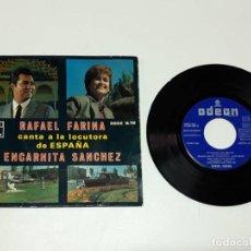 Discos de vinilo: RAFAEL FARINA CANTA A LA LOCUTORA DE ESPAÑA ENCARNITA SÁNCHEZ. Lote 179178808