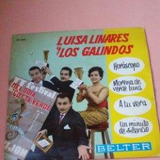 Discos de vinilo: LUISA LINARES Y LOS GALINDOS. Lote 179178915